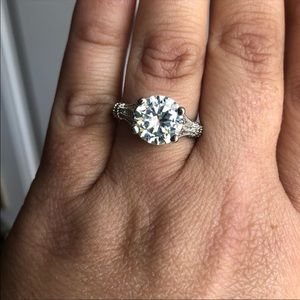 Jewelry - White Sapphire Solitare Engagement Ring